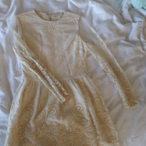 Soft White Lace Dress